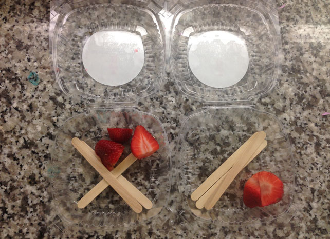 Strawberries at Kitchen Little Cooking School