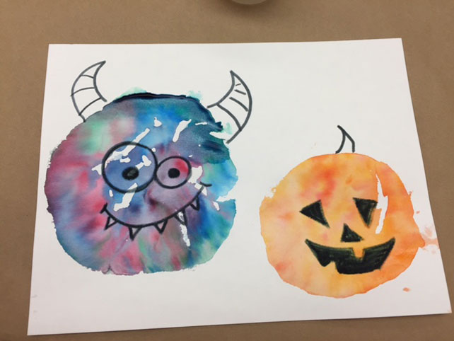Art Project: Halloween Monster Prints | Gymtime Blog